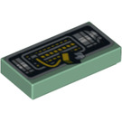 LEGO Tile 1 x 2 with Decoration with Groove (3069 / 96157)