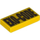 LEGO Tile 1 x 2 with Exo Force Code with Groove (58624 / 58626 / 58721)