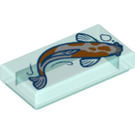 LEGO Tile 1 x 2 with Koi with Groove (3069 / 75423)