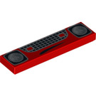 LEGO Tile 1 x 4 with Headlights and Grille Decoration (2431 / 94870)