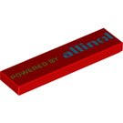 LEGO Tile 1 x 4 with 'Powered by Allinol' Decoration (2431 / 95980)