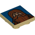 LEGO Tile 2 x 2 inverted with Gimli decoration (11203 / 12988)