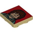 LEGO Tile 2 x 2 inverted with Hobbit decoration (11203 / 13003)
