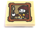 LEGO Tile 2 x 2 Inverted with Wizard with Paintbrush  Sticker
