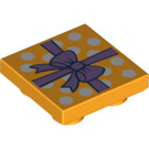 LEGO Tile 2 x 2 Inverted with Wrapping Paper and Bow (24558)