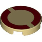 "LEGO Tile 2 x 2 Round with Dark Red Imperial Circle with ""X"" Bottom (4150 / 52513)"