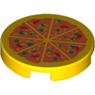 LEGO Tile 2 x 2 Round with Pizza with Normal Bottom (81867)
