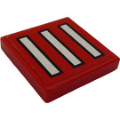 LEGO Tile 2 x 2 with Bars Sticker with Groove (3068)