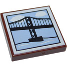 LEGO Tile 2 x 2 with Bridge Painting with Groove (3068 / 23035)