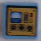 LEGO Tile 2 x 2 with Control Panel Sticker (3068)