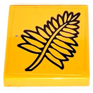 LEGO Tile 2 x 2 with Fern Frond Sticker with Groove