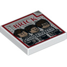 LEGO Tile 2 x 2 with Ghostbusters Decoration with Groove (3068 / 24874)