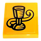 LEGO Tile 2 x 2 with Goblet Sticker with Groove