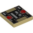 LEGO Tile 2 x 2 with Pipes and Rebellion Logo with Groove (3068 / 83706)