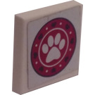 LEGO Tile 2 x 2 with Puppy Daycare Logo Sticker
