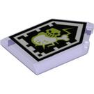 LEGO Tile, 2 x 3 Pentagonal with Devastating Decay Forbidden Power Shield (22385 / 29203)
