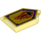 LEGO Tile 2 x 3 Pentagonal with Flame Wreck Shield (22385 / 24621)