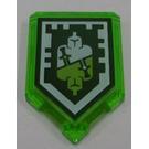 LEGO Tile 2 x 3 Pentagonal with Nexo Power Shield 'Sidekick'