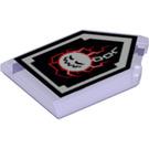 LEGO Tile, 2 x 3 Pentagonal with Wrecking Wrath Power Shield (22385 / 29401)