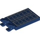 LEGO Tile 2 x 3 with Horizontal Clips with Solar Panels (Thick Open 'O' Clips) (30350 / 69038)
