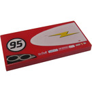 LEGO Tile 2 x 4 with 95, Sunglasses, and Lightning (Right) (87079 / 95334)