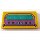 LEGO Tile 2 x 4 with Dark Purple and Dark Turquoise Radio decoration  Sticker (38879)