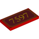 LEGO Tile 2 x 4 with Decoration (87079 / 90843)