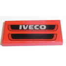 LEGO Tile 2 x 4 with 'IVECO', Black Grille Sticker