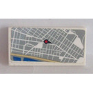 LEGO Tile 2 x 4 with Map Sticker (38879)