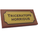 LEGO Tile 2 x 4 with 'TRICERATOPS HORRIDUS' Sticker