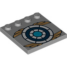 LEGO Tile 4 x 4 with Studs on Edge with Decoration (12960)
