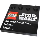 LEGO Tile 4 x 4 with Studs on Edge with Twin-Pod Cloud Car, Lobot , Bespin (6179 / 73142)