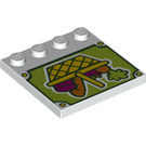 LEGO Tile 4 x 4 with Studs on Edge with Vegetable Basket (6179 / 19971)