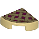 LEGO Tile Quarter Circle 1 x 1 with Lattice Pie Decoration (25269 / 26484)