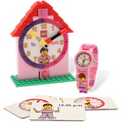 LEGO Time-Teacher Girl Minifigure Watch & Clock (5001371)