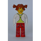 LEGO Tina with White Blouse and Lime Shirt Minifigure