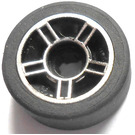 LEGO Tire, Low Profile, Narrow Ø14.58 X 6.24 with Rim Ø11.2 X 6.2 with Hole and Silver Spokes Design (50944)