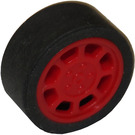 LEGO Tire, Low Profile, Narrow Ø14.58 X 6.24 with Rim 11 x 6 mm and Spokes (93593)