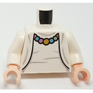 LEGO Torso - White Blouse & Cardigan with Necklace (973 / 76382)
