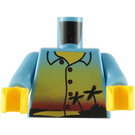 LEGO Torso with Hawaiian shirt pattern, sun and palm trees (76382)