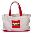 LEGO Tote Bag - White, Lego Logo, Red Handles (853261)