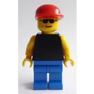 LEGO Town - Black Torso, Red Cap, Sunglasses Minifigure