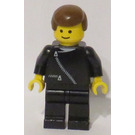 LEGO Town - Black Zipper Jacket with Brown Hair Minifigure