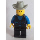 LEGO Town Cowboy with Blue Shirt and Black Jacket Minifigure
