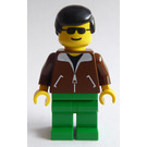 LEGO Town - Male with Brown Jacket Minifigure
