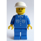 LEGO Town Minifigure with Shirt with 6 Buttons and White Cap