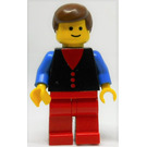 LEGO Town Square Male with 3 Red Buttons Shirt Minifigure