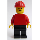 LEGO Town with Red Torso and Construction Helmet Minifigure