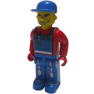 LEGO Tractor Driver with Blue Overalls Minifigure