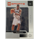 LEGO Trading Card - Basketball -Tim Duncan, San Antonio Spurs #21